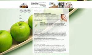 Screenshot der Unterseite Ästhetische Zahnmedizin von der Website https://grutzka-kah.de