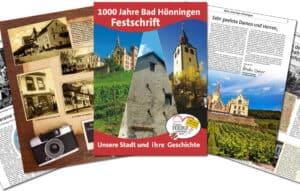 Printreferenz Festschrift 1000 Jahre Bad Hönningen