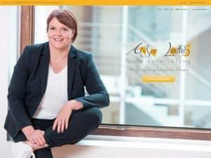 Startseite der Website anjalottes.de