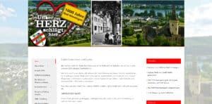 Screenshot der Startseite auf der Website 1000 Jahre Bad Hönningen
