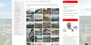 Screenshot einer Fotogalerie auf der Website 1000 Jahre Bad Hönningen