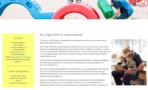 Screenshot der Unterseite St. Suitbert (Geschichte) von der Website kigazweckverband.de